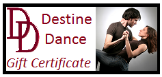 Gift Certificate for dance