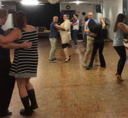 Group dance lesson in Elsternwick